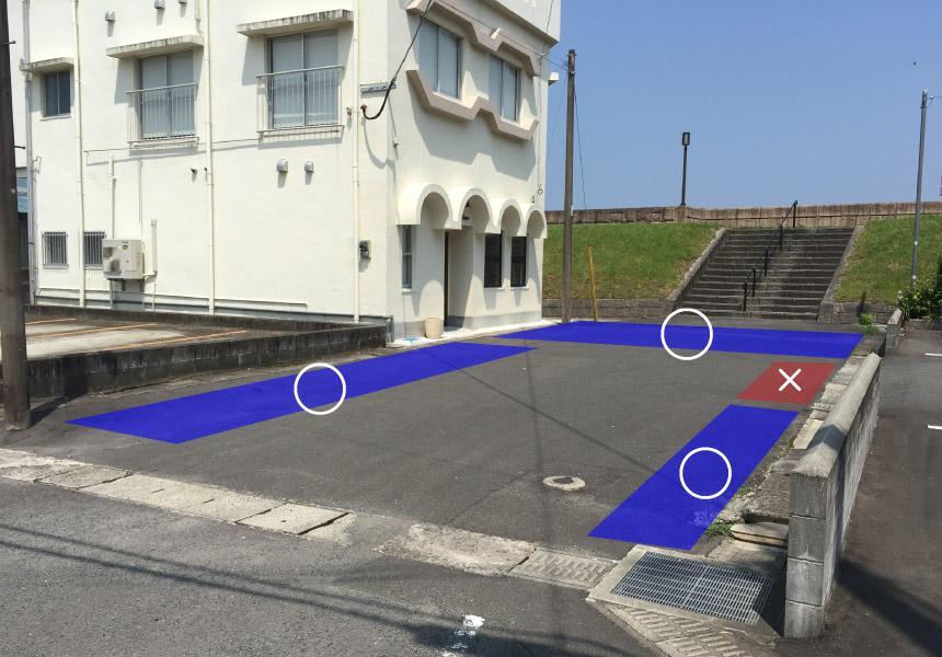 タマニワ前駐車場