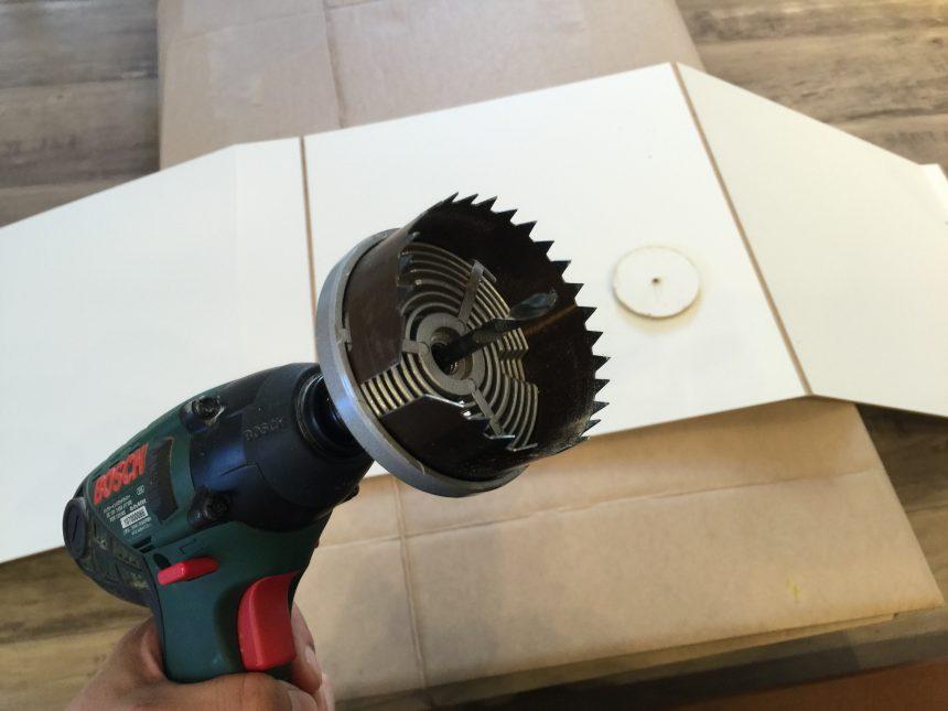 電動ドリル用穴あけアタッチメント