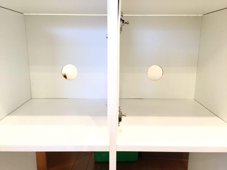 KALLAX用インサート扉を取り付けた状態