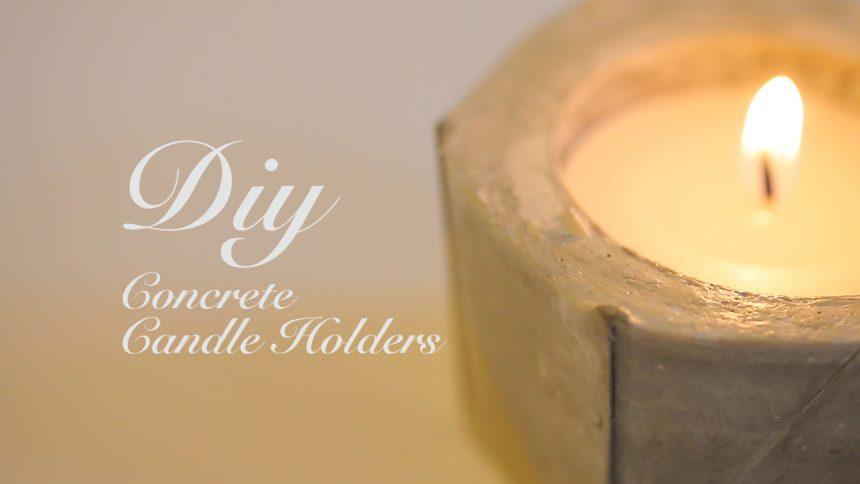 【DIY】コンクリートでつくるキャンドルホルダー